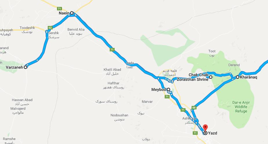 yazd-esf-ghurtan-road